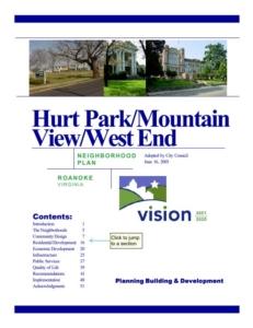 Hurt Park/Mountain View/West End Neighborhood Plan